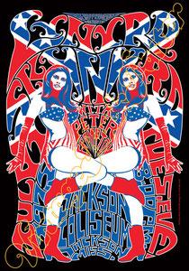 lynyrd skynyrd, Ronnie Van Zant, Gary Rossington, Johnny Van Zant, lynyrd skynyrd poster,concert,classic rock, american music,hippy,bikers,hells angels,60s,woodstock,monterey,festival