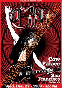 cult, Ian Astbury, Billy Duffy, Matt Sorum, John Tempesta,classic rock, nina,ciao baby,eddy,dreamtime,sonic temple,poster,san francisco,1989,cow palace