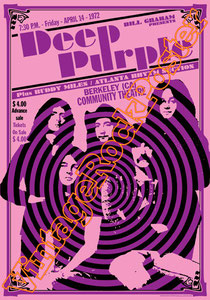 deep purple,Ian Gillan, Rod Evans, David Coverdale, Joe Lynn Turner, classic rock, psychedelic, psichedelia, rock,american , british rock, dark,gothic,concert,poster,berkeley,usa,concerto,poster deep