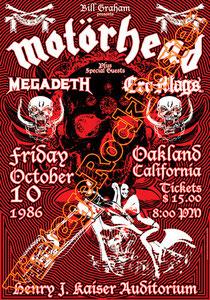 motorhead,punk,metal,hard rock,nazism,oakland,california,usa,concert, motorhead poster,Lemmy Kilmister, Mikkey Dee, Phil Campbell, Phil Taylor, lemmy,kaiser,megadeth,concerto,affiche,live show,hard