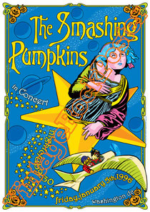 smashing pumpkins, Nicole Fiorentino, Mike Byrne, Jeff Schroeder,billy corgan,bill corgan,tonight tonight,1979,disarm,aba adore,smashing pumpkins poster,smashing pumpkins concert,washington,1996,grung