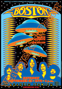 boston,boston poster,boston concert, Tom Scholz, Kimberley Dahme, Tommy DeCarlo,Frad Delp, Fran Cosmo,more than a feeling,don't look back,black sabbath,van halen