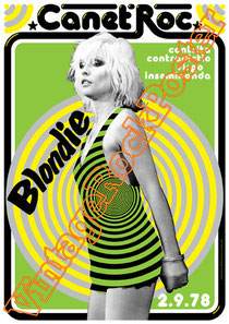 blondie, debby harry,debbie harry,poster, vintage rock posters,deborah harry,Chris Stein, affiche, manifesto, concerto, new york,1976