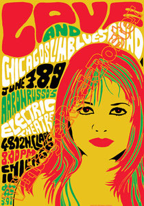 Mike Randle, Rusty Squeezebox, David Chapple,love,arthur lee,love poster,love band,chicago blues band,electric theatre chicago, rock n roll, black music