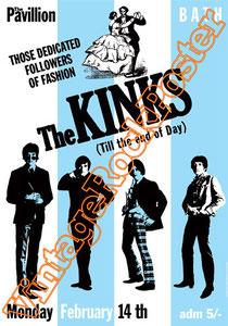 the kinks,Ray Davies, Dave Davies, Rod Stewart, Pete Quaife,the kinks poster,kinks concert,live show,lola versus powerman,chirpy,this time tomorrow