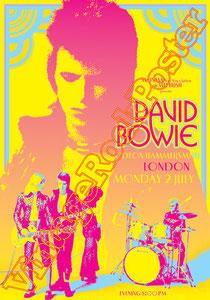 david bowie, ziggy stardust,bowie,glam rock, velvet goldmine, vintage rock posters, poster, london,diamond dogs,1973