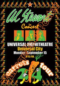 al stewart,Carrots tour,universal amphitheatre,universal city,poster,manifesto,affiche,cartaz,cartel,poster,vintage rock poster,locandina,concerto,live show
