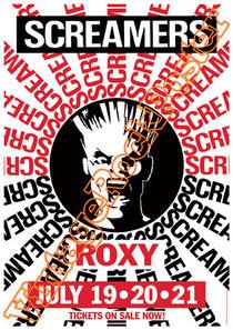 screamers,punk,tomata du plenty,tommy gear,rio de janeiro,pam lillig,ben witz,bill rieflin,eldon hoke,k k barrett,david brown,paul roessler,american punk,hard core, ska core,metal,rock,poster