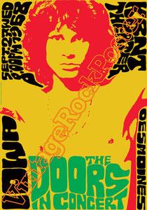 doors, Jim Morrison, Ray Manzarek, Robby Krieger, John Densmore, Rick Manzarek, Jim Manzarek, Pat Sullivan,psychedelic,psichedelia,gloria,doors poster,king snake,desmoines,1968,hippy