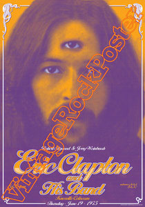 eric clapton,guitar,cream, knoxville,usa, poster, vintage rock poster, concert