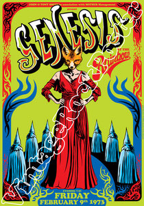 genesis, Phil Collins, Peter Gabriel, Steve Hackett, Mike Rutherford,genesis poster,Ray Wilson,I can't dance,Invisible Touch,classic rock,british rock,genova,teatro alcione,1972