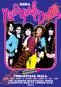 new york dolls,new york dolls poster,glam rock, glam street music,  David Johansen, Sylvain Sylvain, Earl Slick,jet boy,Johnny Thunders,Tod Rundgren,too much too soon,Buster Poindexter,murcia,sam yaff