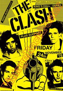clash,joe strummer,Mick Jones, Paul Simonon, Topper, Nick Headon, punk, emo, rock in the cashba, sandinista, new punk, poster, affiche, vintage rock poster, Derby, france, paris, british punk,