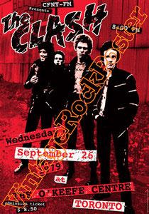 clash,joe strummer,Mick Jones, Paul Simonon, Topper, Nick Headon, punk, emo, rock in the cashba, sandinista, new punk, poster, affiche, vintage rock poster, toronto,canada