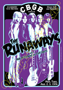 runaways,Joan Jett, Cherie Currie, Lita Ford, Sandy West, Jackie Fox, Michael Steele, Vicki Blue, Laurie McAllister, Peggy Foster,i love rock n roll,glam rock,runaways poster,female, girl power,rock
