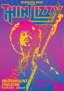 thin lizzy,Ricky Warwick, Damon Johnson, Philip Lynott,thin lizzy poster,thin lizzy concert,thin lizzy manifesto,locandina,the boys are back in town