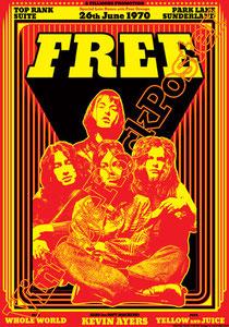free,kevin ayers,soft machine,poster,manifesto,locandina,concerto,toronto,canada poster,canada concert,1968,classic rock,hey joe,rock n roll