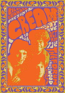 cream, eric clapton,for your love,rock,guitar,chitarra,chitarrista,Eric Clapton, Ginger Baker, Jack Bruce,The Forum Inglewood,london,uk,poster,vintage rock posters,affiche,manifesto,locandina,carte