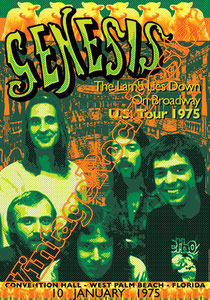 genesis, Phil Collins, Peter Gabriel, Steve Hackett, Mike Rutherford,genesis poster,Ray Wilson,I can't dance,Invisible Touch,classic rock,british rock,west palm beach,1975,conventional hall