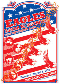 eagles,Hotel California, Hell Freezes Over, One of These Nights,eagles poster, concert, Glenn Frey, Don Henley, Bernie Leadon, Randy Meisner,linda ronstadt,oakland,1976,live