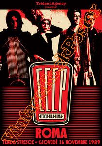 cccp,giovanni lindo ferretti, fedeli alla linea, comunismo, concerto, poster, pci, partito comunista italiano, stalin, lenin,vintage rock posters, roma, festa dell'unità