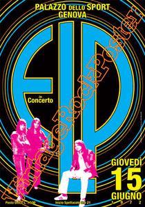 emerson lake & palmer,  Keith Emerson, Greg Lake, Carl Palmer,emerson lake palmer poster,vintage rock posters, concert, live show, concerto, affiche,genova,1972