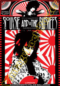 siouxie and the banshees,siouxie poster,punk,emo,dark,gothic,black,vintage rock posters,oakland,california,manifesto,locandina,affiche