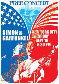 simon & Garfunkel,Paul Simon, Art Garfunkel,american music, classic rock, folk,new york city,vintage rock posters,simon & garfunkel poster,affiche,manifesto,locandina,concerto