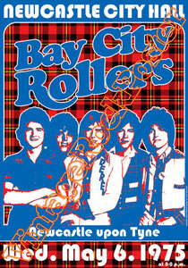 bay city rollers,duncan faure,Gordon Nobby clark,punk,glam rock, rock n roll,rollermania, bay city rollers poster,concerto,concert,live show