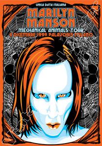 marilyn manson, gothic, dark, metal, vintage rock posters, poster, manifesto, locandina, affiche, cartaz, karte, cartel, concert, marilyn manson poster