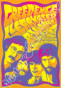 creedence clearwater revival, John Fogerty, Tom Fogerty, Doug Clifford, Stu Cook,poster,vintage rock poster, manifesto, locandina,new york, 1968,filmore east