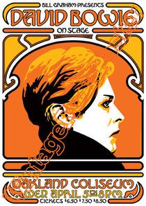 david bowie, ziggy stardust,bowie,glam rock, velvet goldmine, vintage rock posters, poster, oakland,1978,coliseum
