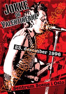 jokke poster,jokke og valentinerne,oslo,norway music,punk,new punk,rock, hard rock, poster,manifesto,jokke concert,joachim nielsen,christopher nielsen,trygge oslo