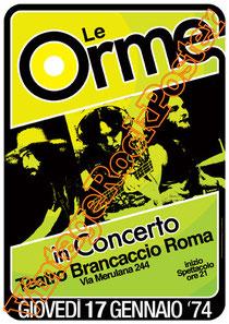 le orme,orme,orme poster,progressive rock, italian progressive,prog,teatro brancaccio, roma,affiche, rock prog,rock,italian music,70s