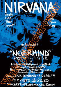 nirvana, Kurt Cobain, Dave Grohl, Krist Novoselic, Chad Channing,lithium,nirvana poster,nirvana concert,live show,smells like ten spirit,nevermind,90s,grunge,seattle,grunge rock,rock,music,courtney lo