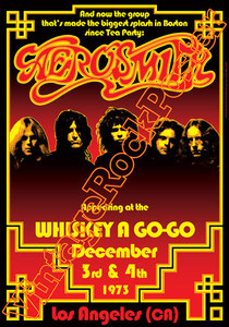 aerosmith,steven tyler,joe perry,exile on main street,pump,tom hamilton,Joey Kramer,Ray Tabano,poster,affiche,manifesto,locandina,cartaz,cartel,vintage rock poster,whiskey a go go,Los Angeles,1973