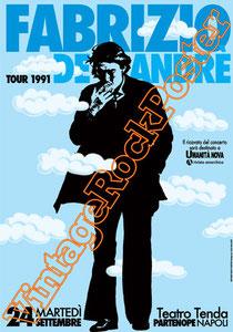 fabrizio de andrè,de andre,canzone di marinella,bocca di rosa, poesia, poetry,italian singer, cantautore,tour 1991 de andrè,teatro tenda partenope, napoli, italy