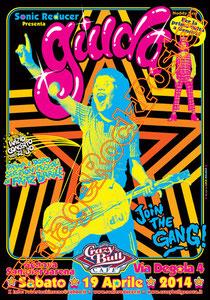 giuda,glam rock, italian band, italian cult glam, giuda poster,punk, rock n roll, italian music, concert, concert, live show,genova, crazy bull