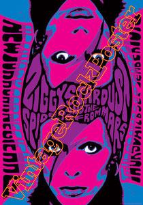 david bowie, ziggy stardust,bowie,glam rock, velvet goldmine, vintage rock posters, poster, new york, 1972
