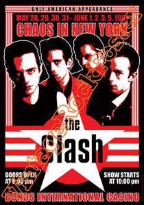 clash,joe strummer,Mick Jones, Paul Simonon, Topper, Nick Headon, punk, emo, rock in the cashba, sandinista, new punk, poster, affiche, vintage rock poster,new york, bonds international casino