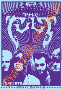 cult, Ian Astbury, Billy Duffy, Matt Sorum, John Tempesta,classic rock, nina,ciao baby,eddy,dreamtime,sonic temple,poster,roma,italy,1987