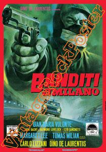 banditi a milano, carlo lizzani, italian cult movie, cult movie, cinema, cinecittà, italian b movie, b movie, cult, hollywood, cinema poster, movie poster