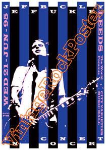 jeff buckley,tim buckley, leeds, concert, poster, vintage rock poster, affiche, cartaz, cartel, karte, concerto, live show