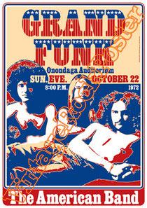 grand funk railroad, Mel Schacher, Bruce Kulick, Max Carl, Tim Cashion,onondaga,1972,poster,manifesto,locandina,grand funk poster
