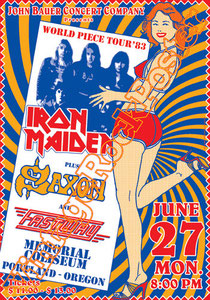 Dennis Wilcock, Paul Day, Paul Di'Anno, Bruce Dickinson, Blaze Bayley,Steve Harris, Nicko McBrain, Janick Gers,iron maiden,poster,iron maiden poster,affiche,heavy metal,classic rock,hard rock,eddie
