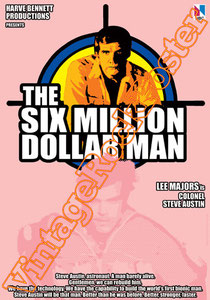 six million dollar man,l'uomo da sei milioni di dollari,lee majors, tv serie, police, serie tv , cartoon, tv italiana, telefilm americano, telefilm, poster, cinema, movie