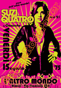 suzi quatro,glam rock,rock n roll,suzi quatro poster,detroit,quattrocchio,pop rock,rock poster,cradle,if you knew suzi,happy days,barnaby,affiche glam,