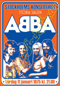 Björn Ulvaeus, Benny Andersson, Agnetha Fältskog,Anni-Frid Lyngstad, abba, London, wembley arena, vintage rock poster, Uk, 1979, dancing queen, abba gold, uk tour 1979,poster,affiche,manifesto