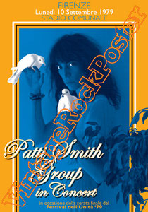 patti smith,patti smith poster, patti poetry,patti smith group,festival dell'unità,firenze,italy,1979,classic rock,music poetry