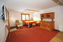 Wohnzimmer im Gästehaus Claudia, Riezlern